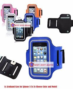 PU Leather Sport Armband Case Cover Holder for Apple Iphone 5 5th Gen 5S 5C new