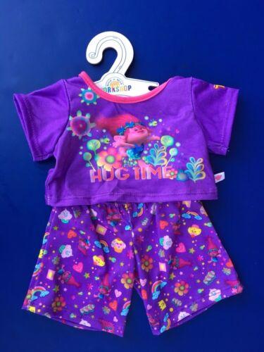 2 pc. Build a Bear Teddy Bear Clothing Trolls Hug Time PJ Pajama Set NEW