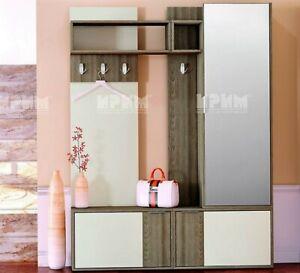 Dettagli su Mobile ingresso moderno con specchio,appendiabiti,vani chiusi  City 4019 design