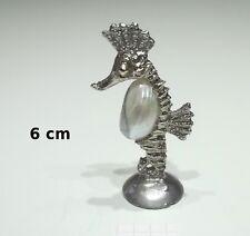 magnifique hippocampe en métal et coquillage, figurine,bibelot tp3-L
