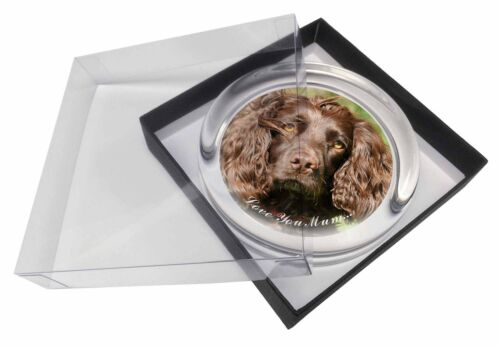 AD-SC4lymPW Brown Cocker Spaniel /'Love You Mum/' Glass Paperweight in Gift Box C