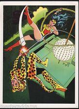 Vintage 1978 WONDER WOMAN Pin up Poster DC CHEETAH