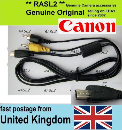 Genuino Original Canon Av Cable Ixus 500 1000 1100 Hs Powershot A4000 es A810