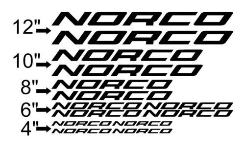 USA Seller! Pick Your Color Custom Norco Bike Frame Decal Set