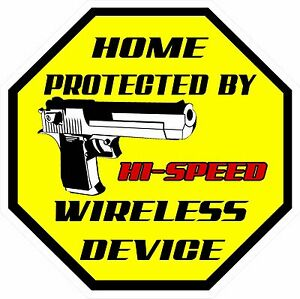 Hi Speed Wireless Home Security Window Decal Sticker By - Window decals for home security