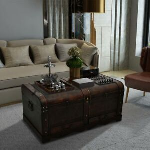 Image Is Loading Wooden Chest Coffee Table Living Room Treasure Trunk