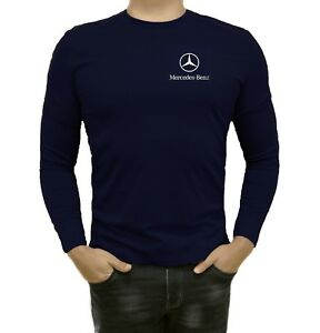 Mercedes-Benz-Long-Sleeve-T-Shirt-MENS-Polo-Embroidered-logo-Auto-Gift-Shirt