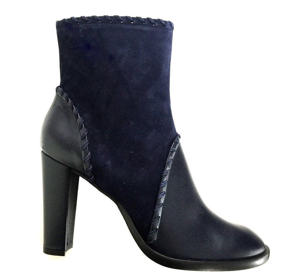 NEU Damenmode Damen Schuhe Stiefeletten dunkelblau  Gr.40 v.Carrierre Design