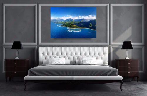 Kauai Island Hawaii  Ocean Landscape Nature Photography Canvas Print Art Decor