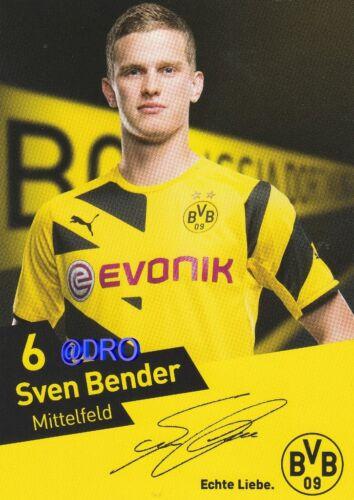Original Autogrammkarte Saison 2014//2015 Sven BENDER Borussia Dortmund