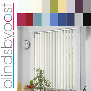 Made To Measure Pvc Thermal Blackout Fabric Complete Vertical Blinds
