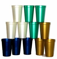 100 - Large 20 Oz. Plastic Drinking Glasses, Mix Pearl Colors Mfg Usa Lead Free