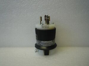 HUBBELL-HBL9965CCN-TWIST-LOCK-PLUG-MALE-CONNECTOR-20A-125-250VAC-3P-3-WIRE-NEW