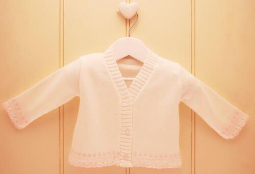 9 m Bébé Filles Pretty PEX Espagnol Style Fantaisie Été Cardigan Blanc Rose Nouveau-né