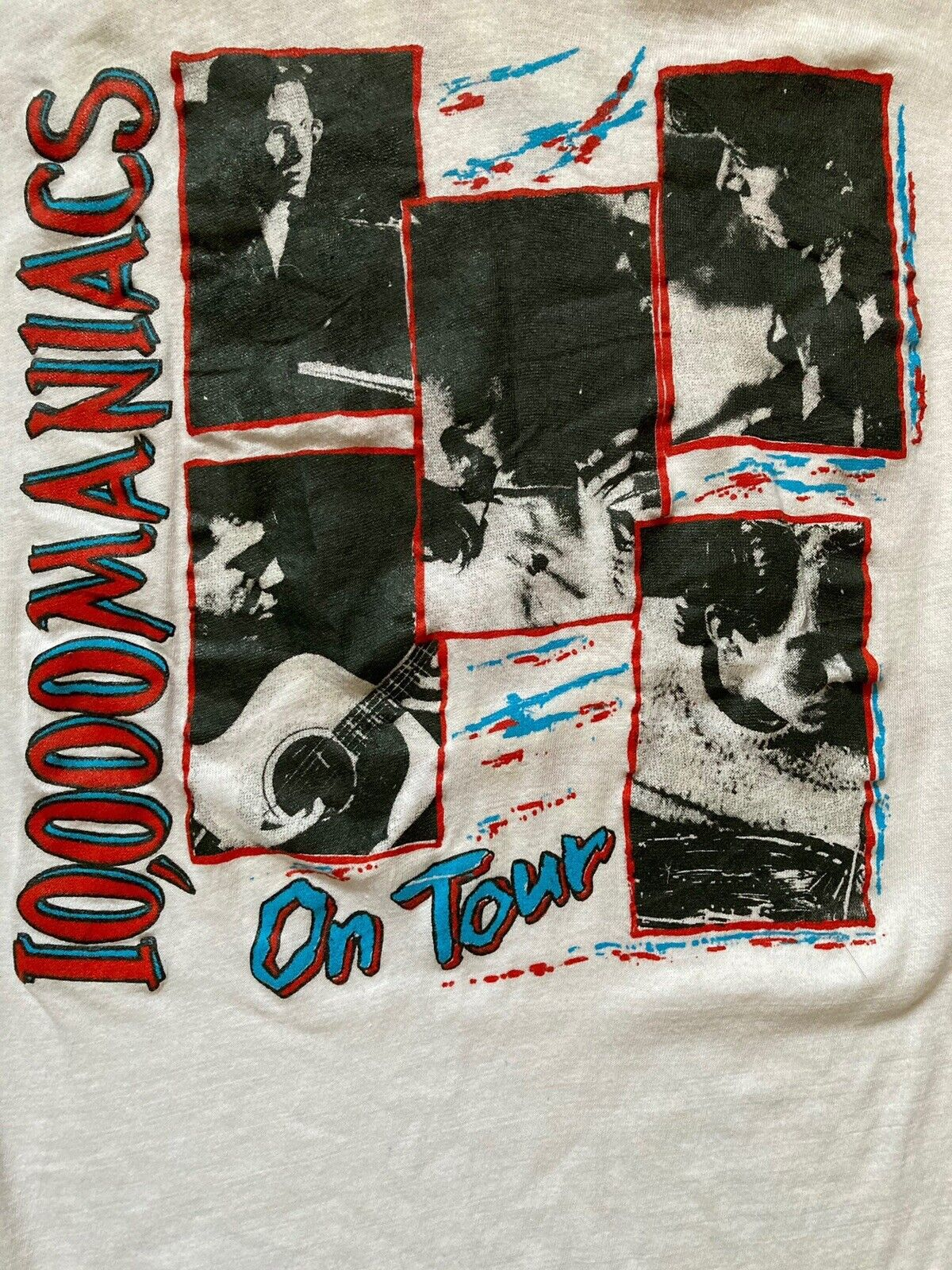 80s Vintage 10000 Maniacs T-shirt Size XL my bloody valentine cure talking heads