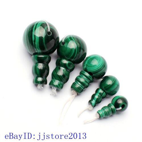 8-17mm Suave Forma Redonda Natural Verde Malaquita Tíbet gurú suelta perlas 1Pcs