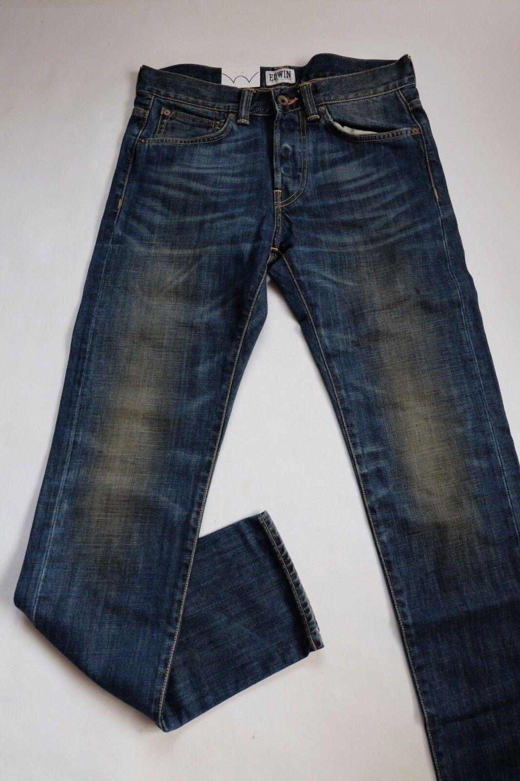 JEANS EDWIN ED 80 SLIM TAPERED (dark bluee-blueerise used) W29 L32 (i004539 258)