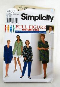 7468-Simplicity-Full-Figure-Mary-Duffy-Vtg-Sewing-Pattern-Womens-Clothing-26-32W
