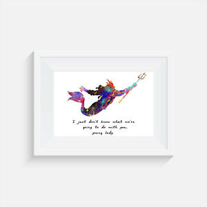 Details about Little Mermaid inspired inspired, print, poster, prints,  posters, quote, wallart