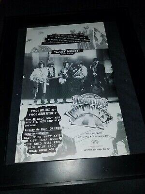 Traveling Wilburys Last Night Rare Radio Promo Poster Ad Framed 2 Ebay