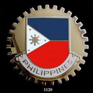 Car Grille Emblem Badges Philippines Flag Ebay