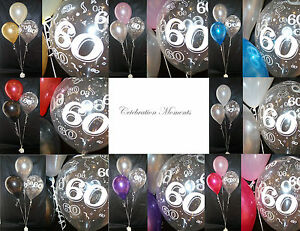 Happy 60th Birthday Party Helium Balloon Decoration DIY Clusters Kit