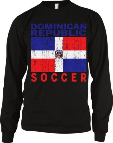 Dominican Republic Flag Soccer Los Quisqueyanos Futbol Pride Long Sleeve Thermal