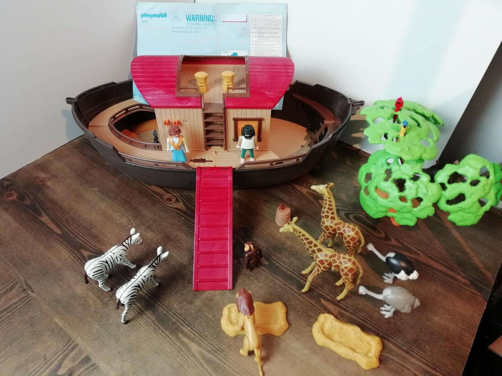 Playmobil 5276 NOAHS ARK With Animals Figures Plus Accessories