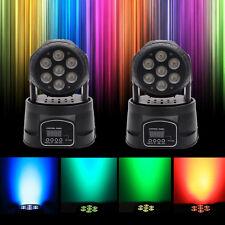 2pcs 7 LED RGB DJ Club Disco Party DMX512 Moving Head Light Stage Lighting Xmas