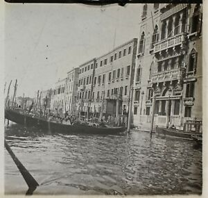 Venezia Italia Foto Placca Da Lente Stereo K10 Vintage Ca 1910