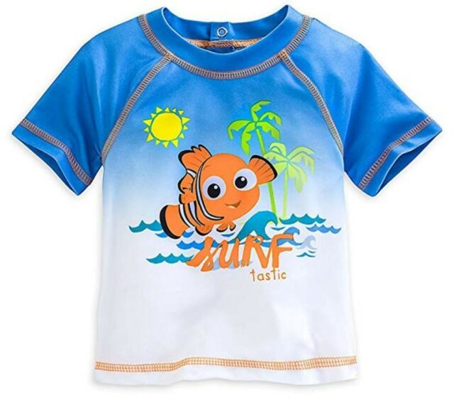 03895740c4 NEW Disney Baby Finding Nemo Surftastic Boys Swim Shirt Rash guard Sz 6-9  Months
