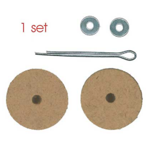 30mm Wooden Animal Cotter Pin Joints - 5 sets