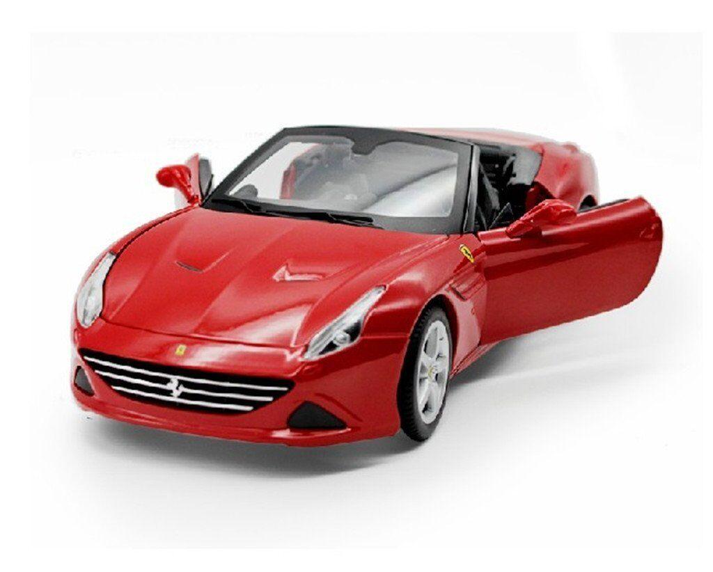 Bburago 1 18 Ferrari California T öppna Top röd tärningskast bil modellllerler NY IN låda