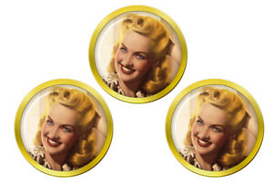 Betty-Grable-Marqueurs-de-Balles-de-Golf