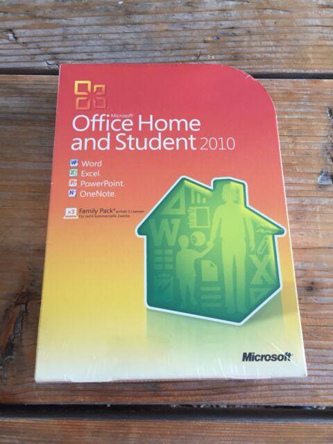 Microsoft Home And Student 2010 1 Benutzer 3 Pc Ebay