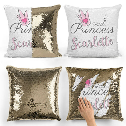 Personalised Sequin CushionMagic Princess Text Reveal Pillow Case /& Insert