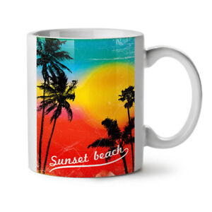 Sunset Wild Sea NEW White Tea Coffee Mug 11 oz | Wellcoda
