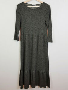 MNG-Spain-Womens-Maxi-Print-Dress-Size-L-or-AU-14-or-US-10