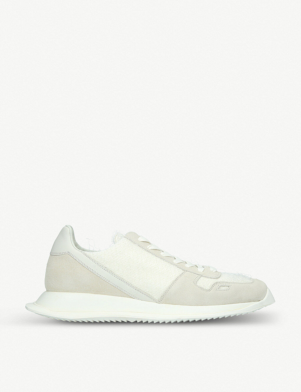 BNIB RICK OWENS Off White Italian Made Suede Textile Trainers Sneakers UK7