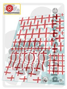 Petos Orden San Jorge//St George/'s Knights pads//Pferdedecke-Playmobil Stickers