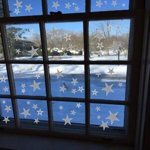 50-Sterne-AA194A-Fensteraufkleber-Fenstersticker-Weihnacht-Dekor-Fensterbilder