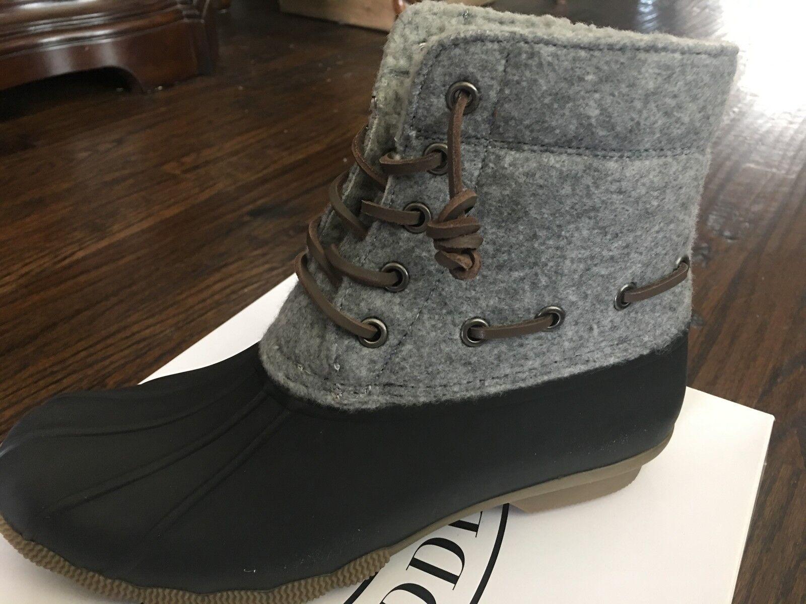 NIB Women's STEVE MADDEN Gray Duck Rain Rubber Boots, Size 10, TORRENT, NICE