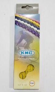NEW Original KMC Z410 single speed YELLOW chain