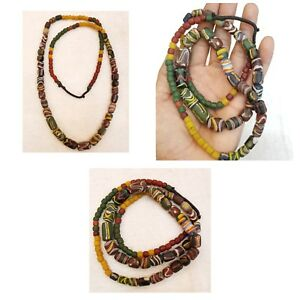 Unique-African-Old-Ancient-Glass-Beautiful-Beads-Very-Rare-Ancient-Necklace
