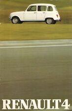 Renault 4 Estate 1980-81 UK Market Sales Brochure TL GTL