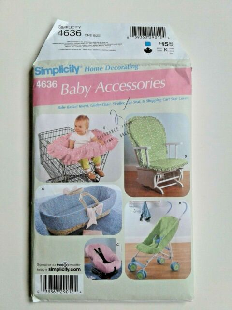 Simplicity 4636 Baby Accessories Sewing Pattern OOP UNCUT Basket Stroller Cover
