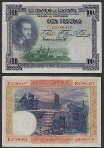 SPAIN 100 Pesetas, 1925, P-69c, Phelipe II, VF-XF World Currency