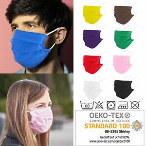 Community Maske Baumwolle Öko Tex Herren Damen Kinder Mundschutz Mundbedeckung