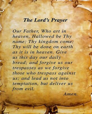 photograph regarding Printable Lords Prayer called Catholic print envision - THE LORDS PRAYER - 8\