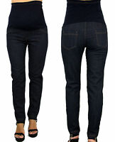 Maternity Jeans Trendy High Waisted Elasctic Blue Modern Hipster Fashion
